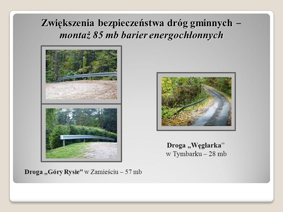 Zwiększenia bezpieczeństwa dróg gminnych montaż 85 mb barier energochłonnych Zwiększenia bezpieczeństwa dróg gminnych ‒ montaż 85 mb barier energochło