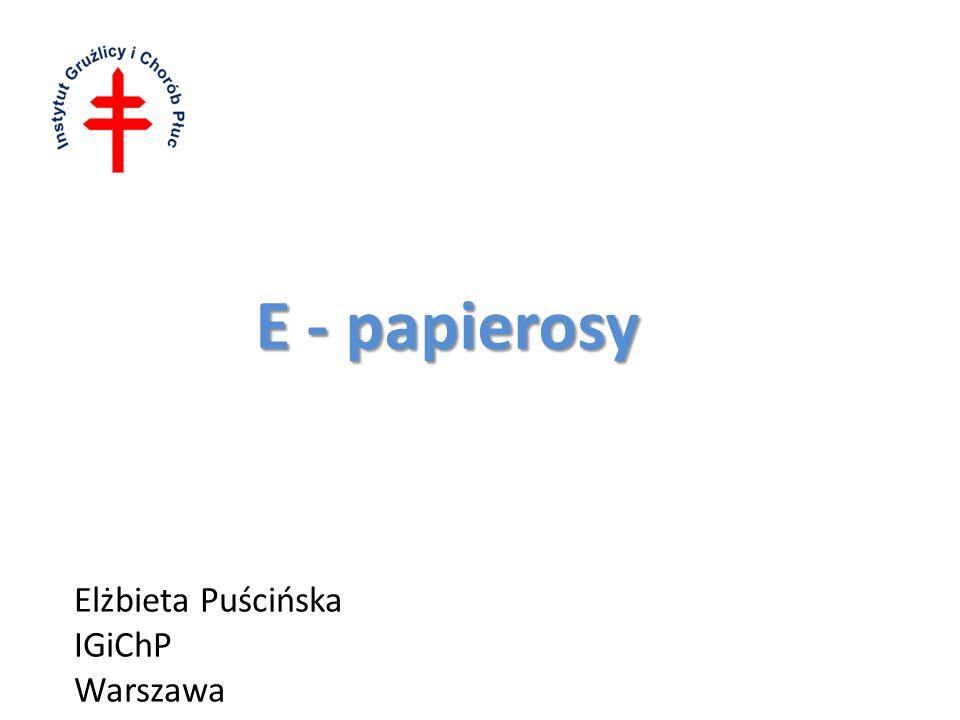 E - papierosy Elżbieta Puścińska IGiChP Warszawa