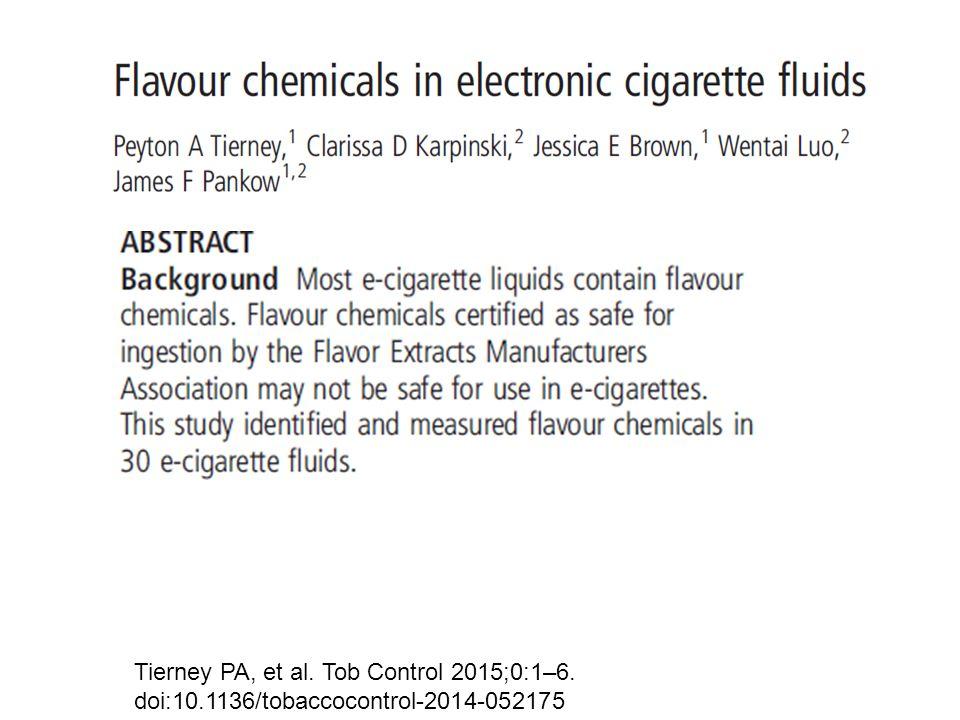 Tierney PA, et al. Tob Control 2015;0:1–6. doi:10.1136/tobaccocontrol-2014-052175
