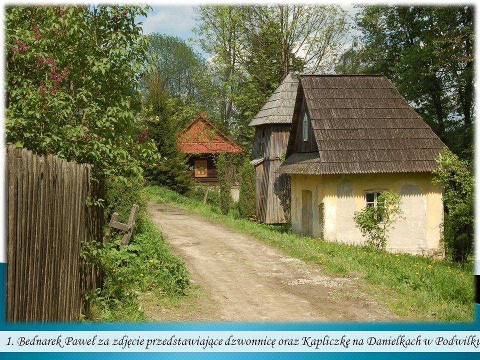 1. Bednarek Paweł za zdjęcie przedstawiające dzwonnicę oraz Kapliczkę na Danielkach w Podwilku