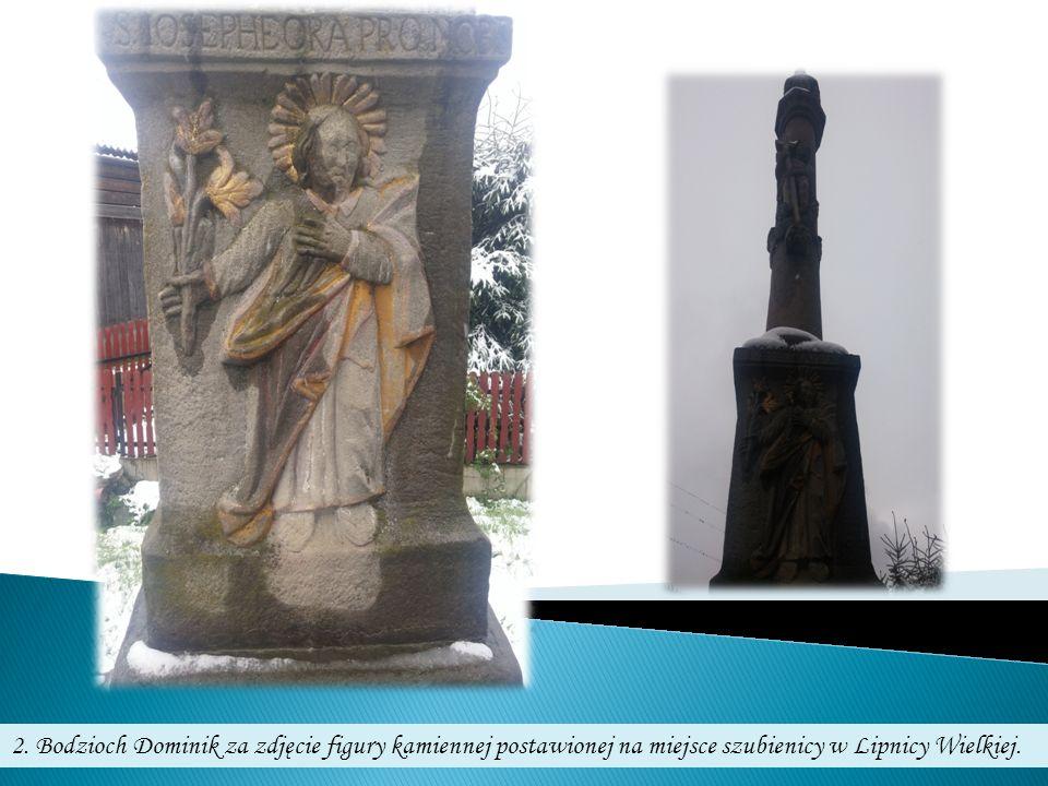 2. Bodzioch Dominik za zdjęcie figury kamiennej postawionej na miejsce szubienicy w Lipnicy Wielkiej.