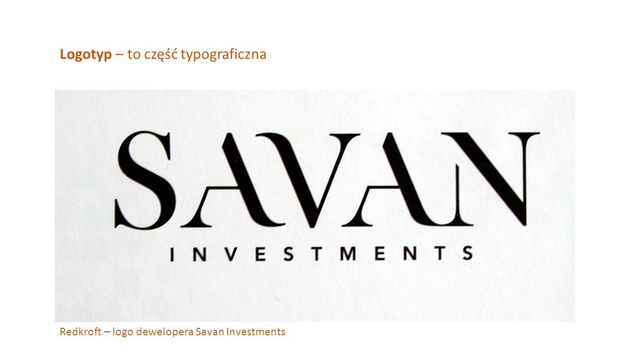Logotyp – to część typograficzna Redkroft – logo dewelopera Savan Investments