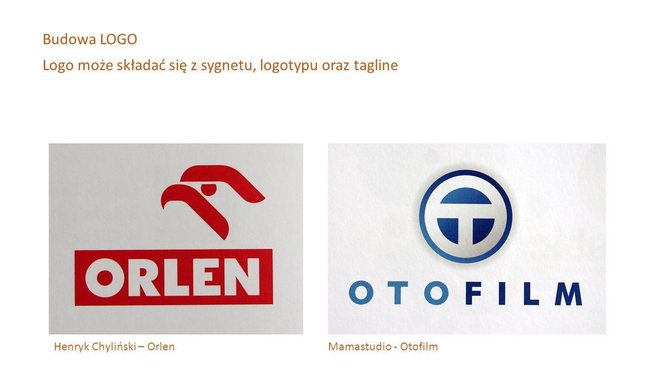 Henryk Chyliński – Orlen Mamastudio - Otofilm Budowa LOGO Logo może składać się z sygnetu, logotypu oraz tagline