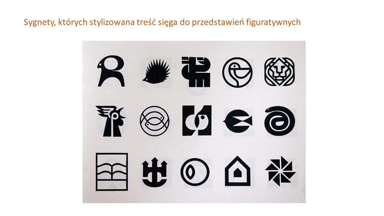 Sygnety, których stylizowana treść sięga do przedstawień figuratywnych