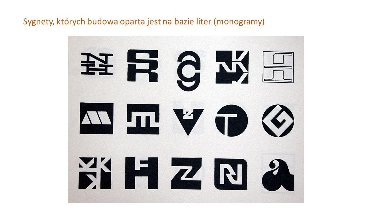 Sygnety, których budowa oparta jest na bazie liter (monogramy)