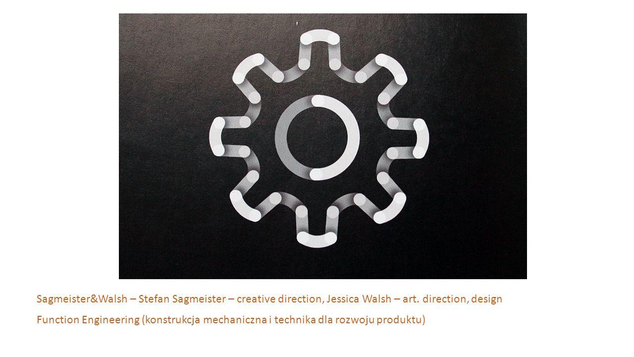 Sagmeister&Walsh – Stefan Sagmeister – creative direction, Jessica Walsh – art. direction, design Function Engineering (konstrukcja mechaniczna i tech