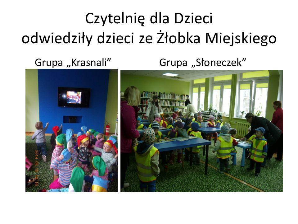 """Czytelnię dla Dzieci odwiedziły dzieci ze Żłobka Miejskiego Grupa """"Krasnali"""" Grupa """"Słoneczek"""""""