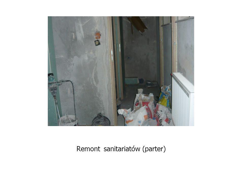 Remont sanitariatów (parter)