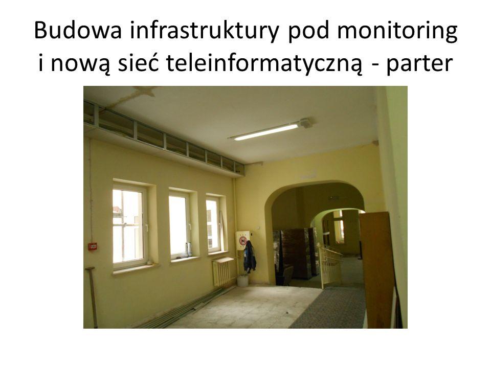 Budowa infrastruktury pod monitoring i nową sieć teleinformatyczną - parter