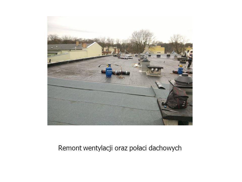 Remont wentylacji oraz połaci dachowych