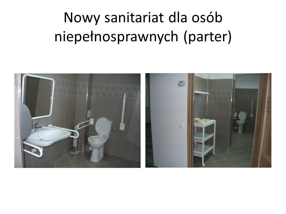 Nowy sanitariat dla osób niepełnosprawnych (parter)