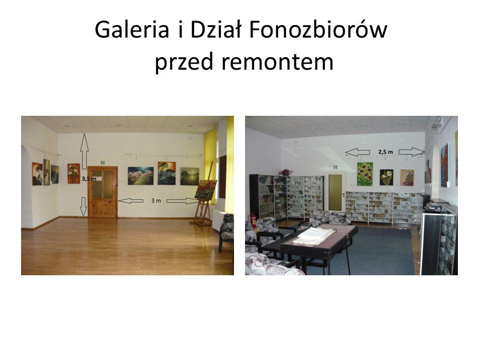 Galeria i Dział Fonozbiorów przed remontem