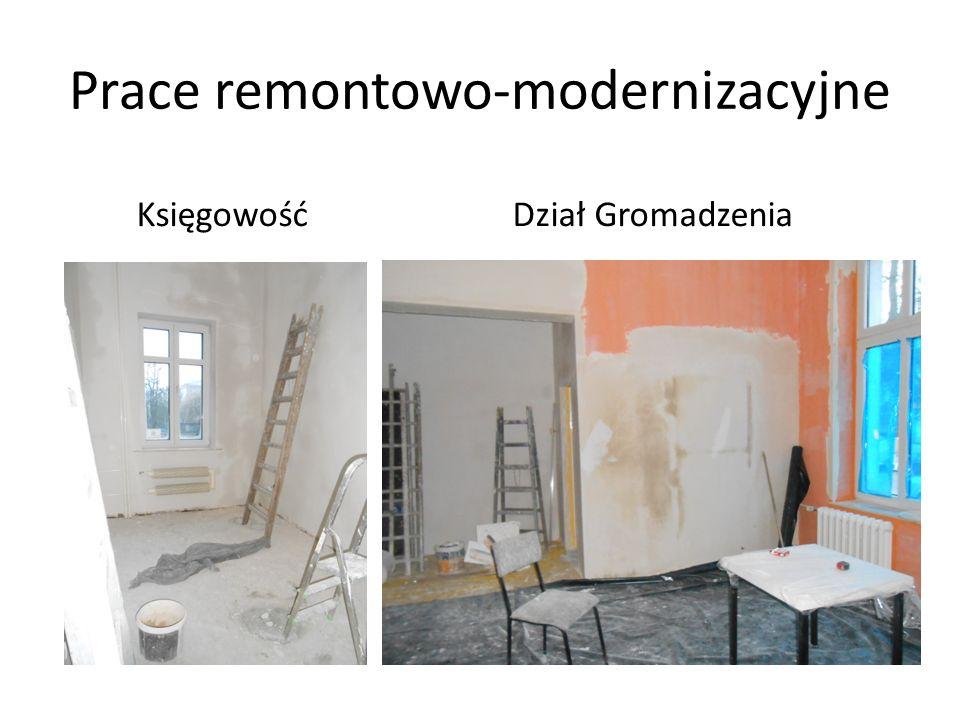 Prace remontowo-modernizacyjne KsięgowośćDział Gromadzenia
