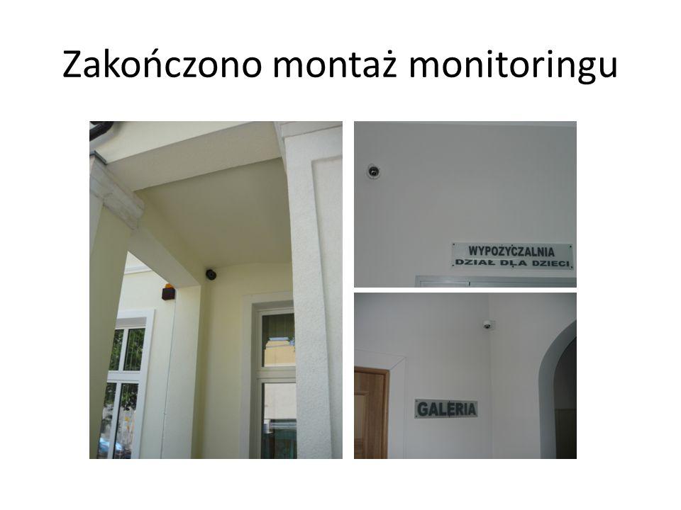 Zakończono montaż monitoringu