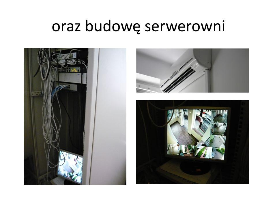 oraz budowę serwerowni