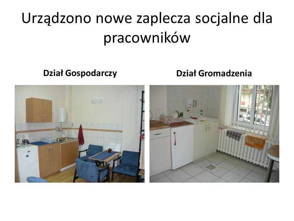 Urządzono nowe zaplecza socjalne dla pracowników Dział Gospodarczy Dział Gromadzenia