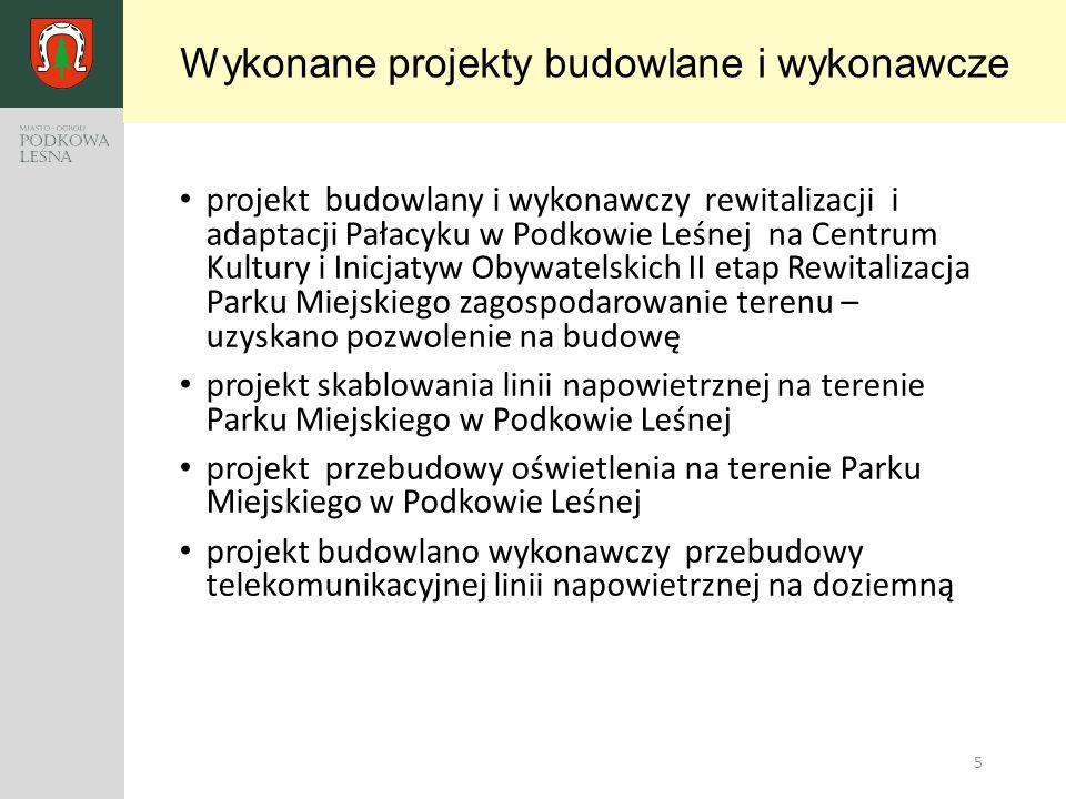 5 projekt budowlany i wykonawczy rewitalizacji i adaptacji Pałacyku w Podkowie Leśnej na Centrum Kultury i Inicjatyw Obywatelskich II etap Rewitalizac
