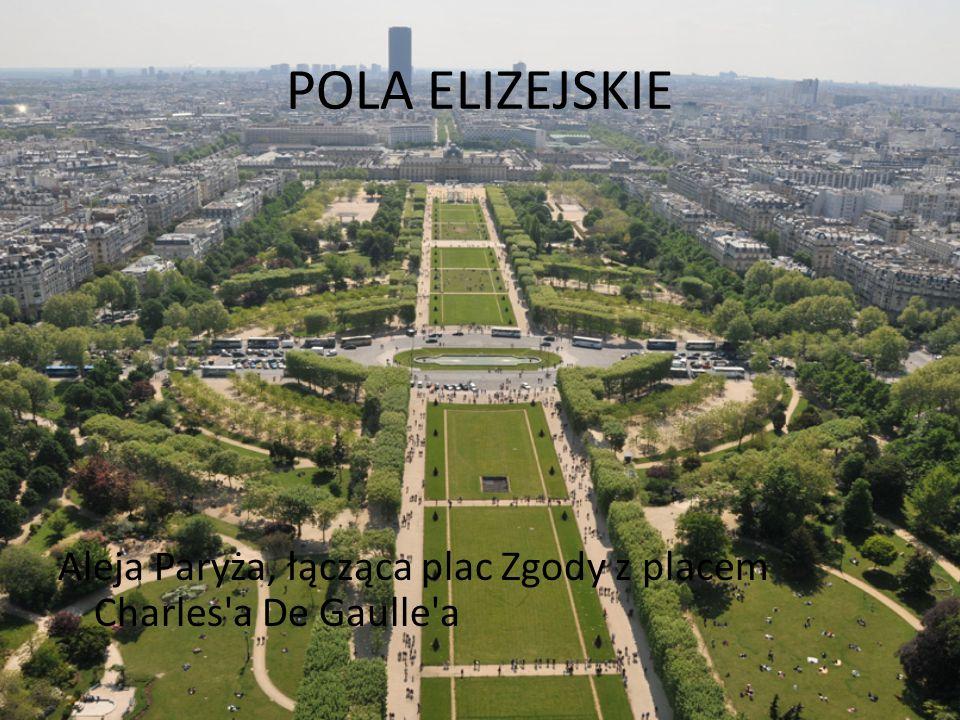 POLA ELIZEJSKIE Aleja Paryża, łącząca plac Zgody z placem Charles'a De Gaulle'a