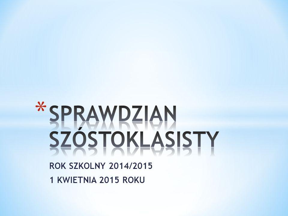 ROK SZKOLNY 2014/2015 1 KWIETNIA 2015 ROKU