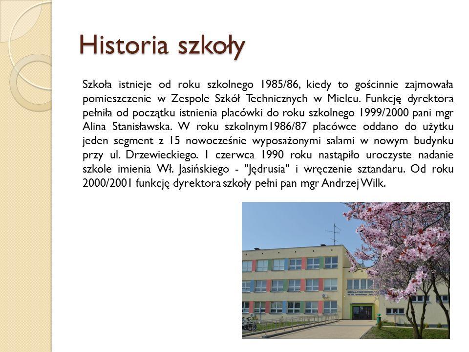 Historia szkoły Szkoła istnieje od roku szkolnego 1985/86, kiedy to gościnnie zajmowała pomieszczenie w Zespole Szkół Technicznych w Mielcu.