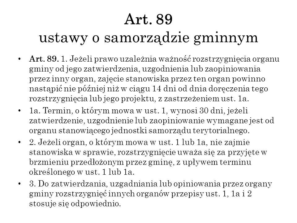 Art. 89 ustawy o samorządzie gminnym Art. 89. 1.