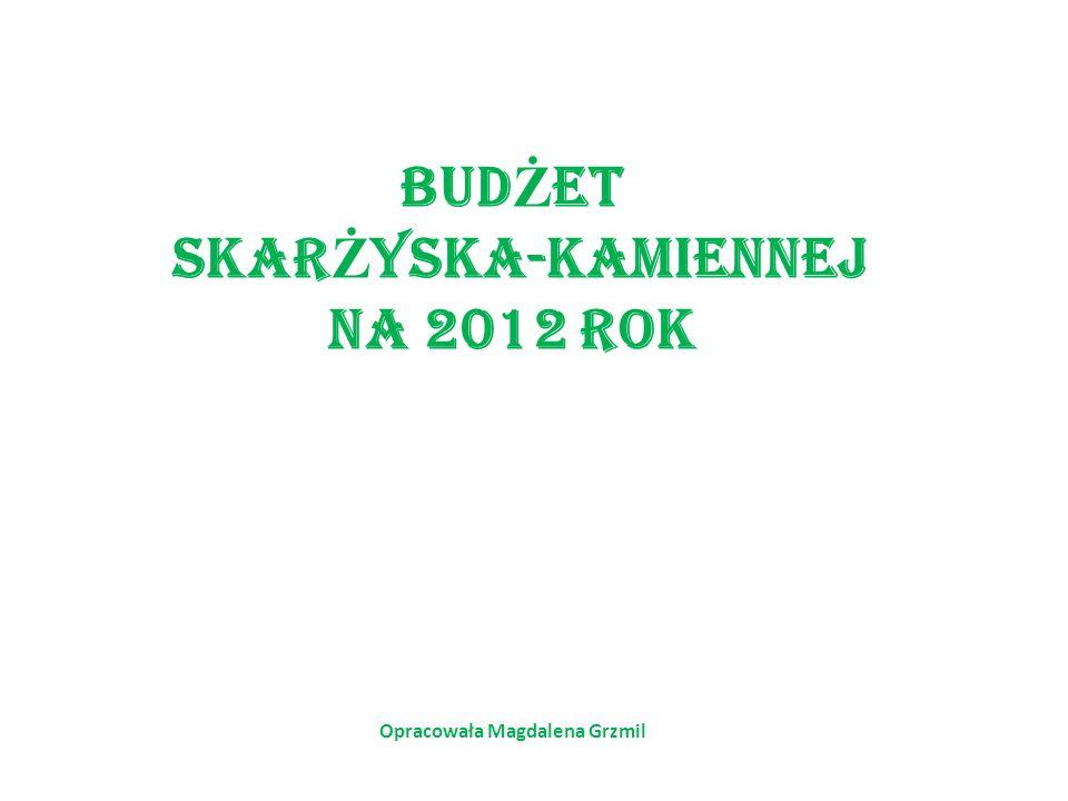 BUD Ż ET SKAR Ż YSKA-KAMIENNEJ NA 2012 ROK Opracowała Magdalena Grzmil