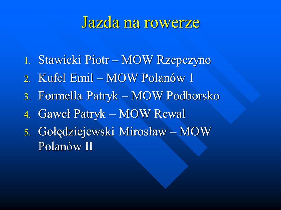 Trójbój 1. Masiarz Krzysztof – MOW Rzepczyno 2. Wedman Michał – SOS Karlino 3.