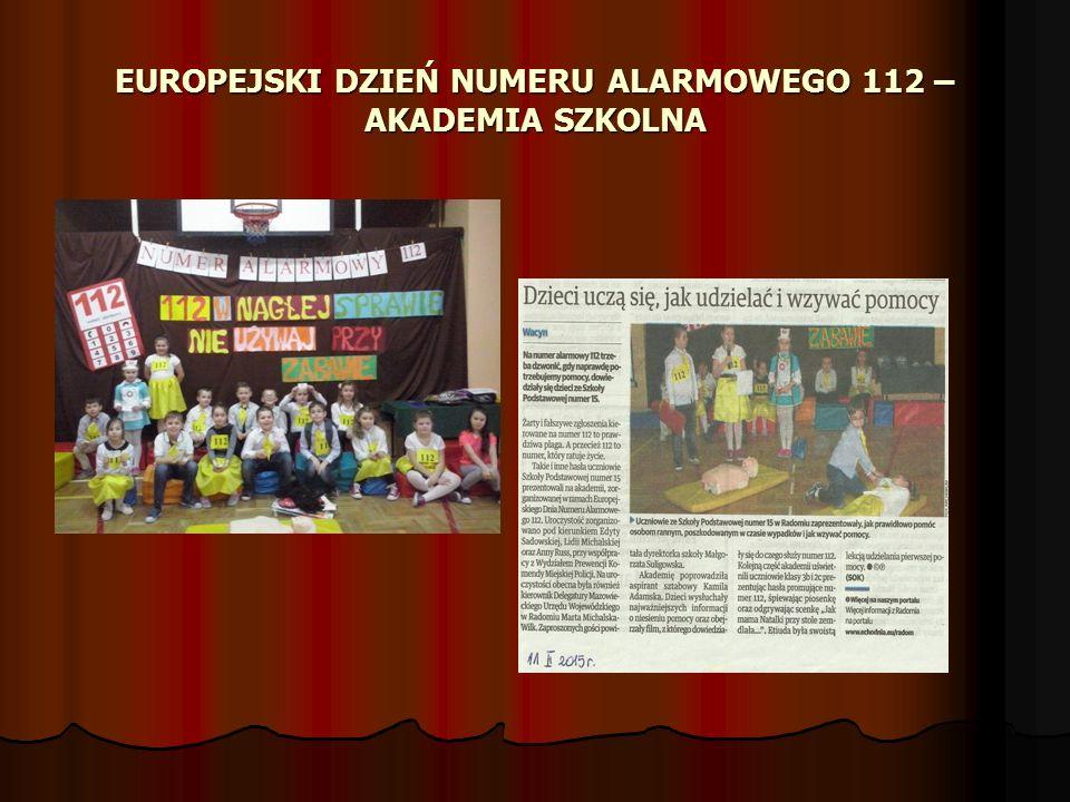 EUROPEJSKI DZIEŃ NUMERU ALARMOWEGO 112 – AKADEMIA SZKOLNA