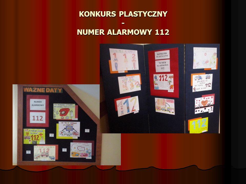KONKURS PLASTYCZNY - NUMER ALARMOWY 112