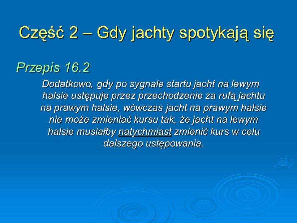 Część 2 – Gdy jachty spotykają się Przepis 16.2