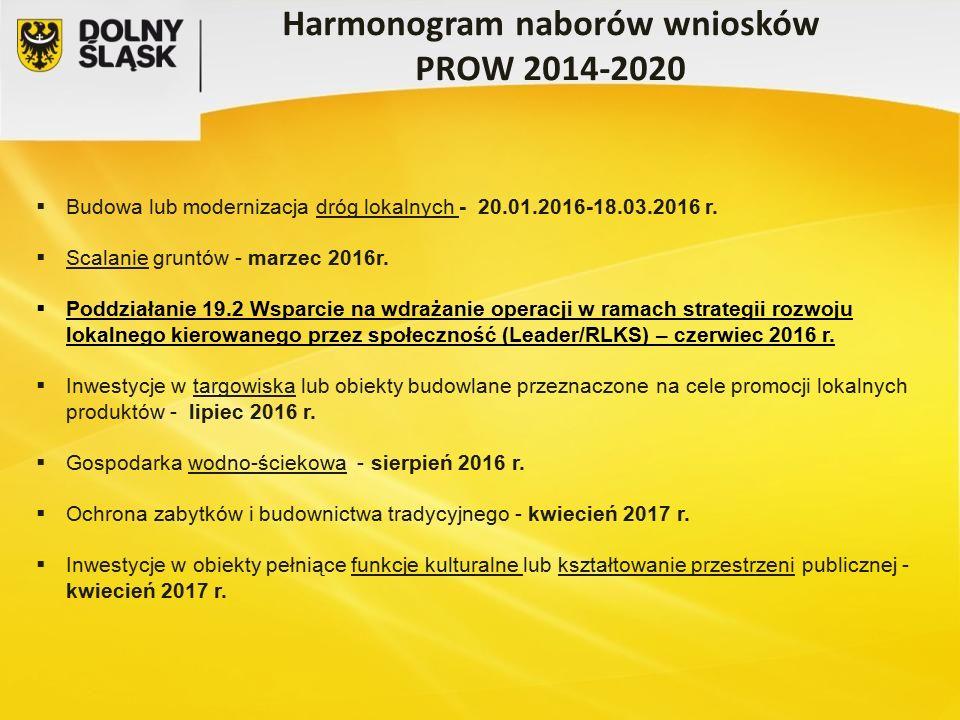  Budowa lub modernizacja dróg lokalnych - 20.01.2016-18.03.2016 r.