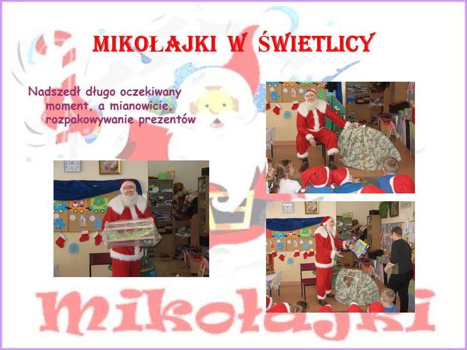 MIKO Ł AJKI W Ś WIETLICY Telegram do Św. Mikołaja Drogi, święty Mikołaju .