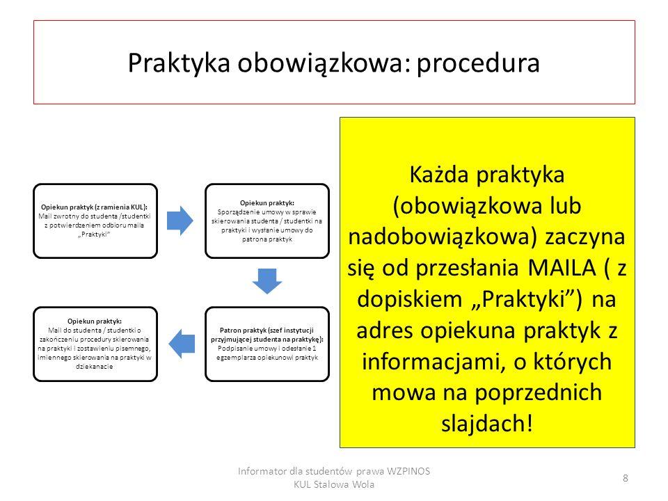 FAQ (1) Jakie dokumenty trzeba mieć w dniu rozpoczęcia praktyki.