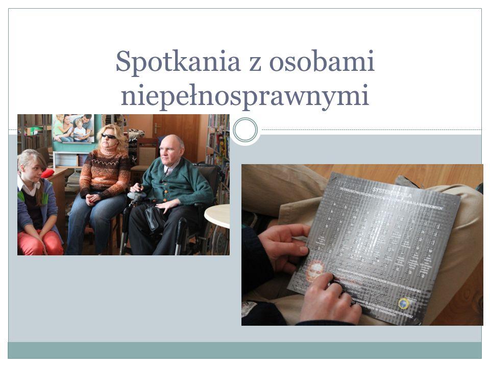 Spotkania z osobami niepełnosprawnymi