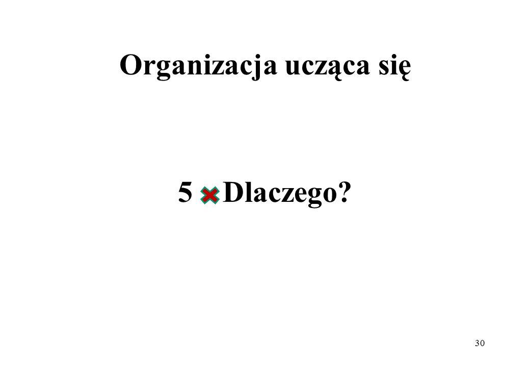 Organizacja ucząca się 5 Dlaczego? 30
