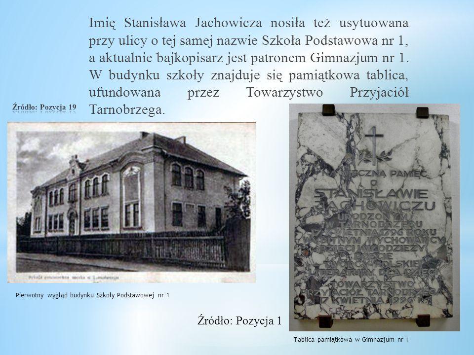 """W 2006 roku – z okazji 210 rocznicy urodzin Jachowicza Muzeum Historyczne m. Tarnobrzega zorganizowało wystawę """"Bajki pana Stanisława"""", na której prez"""