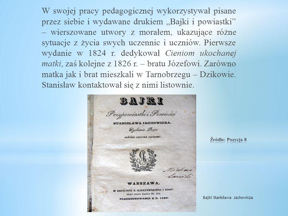 Imię Stanisława Jachowicza nosi też jedno z tarnobrzeskich przedszkoli mieszczących się przy ulicy H.