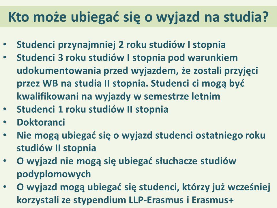 Kto może ubiegać się o wyjazd na studia.