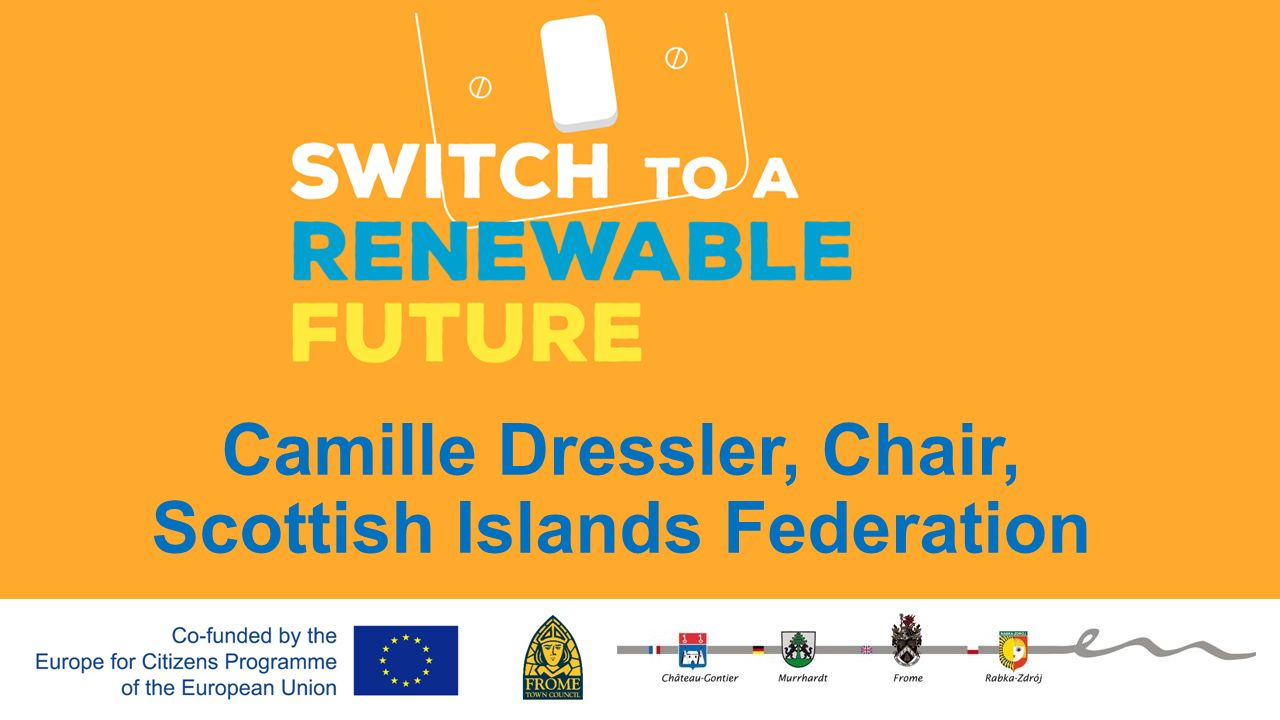 Camille Dressler, Chair, Scottish Islands Federation