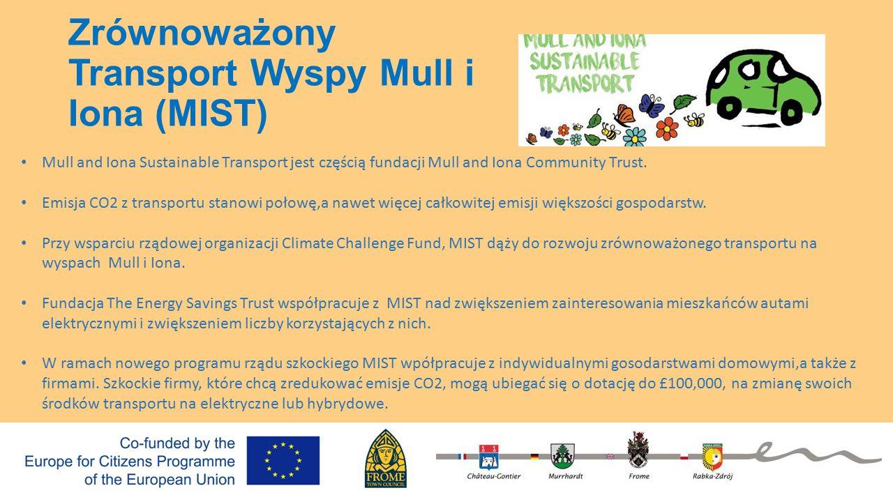 Zrównoważony Transport Wyspy Mull i Iona (MIST) Mull and Iona Sustainable Transport jest częścią fundacji Mull and Iona Community Trust.