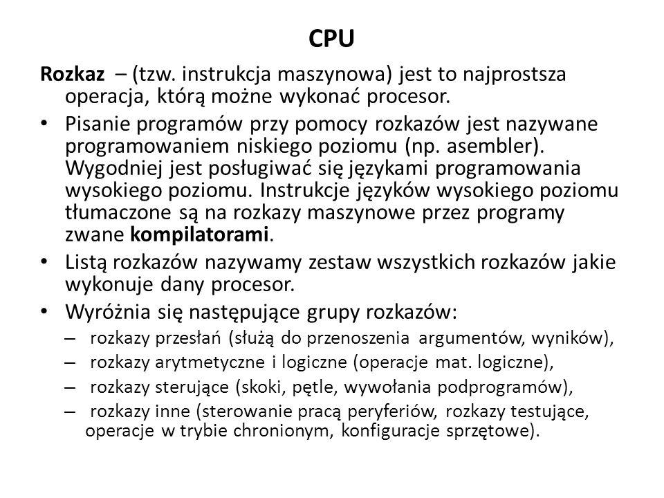 CPU Rozkaz – (tzw.