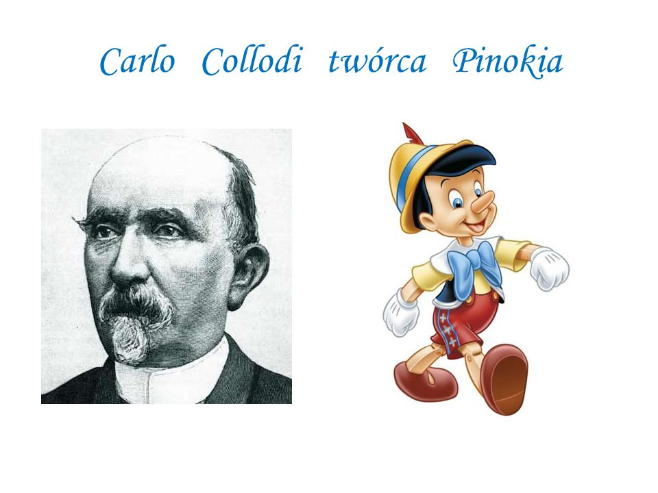 Carlo Collodi twórca Pinokia