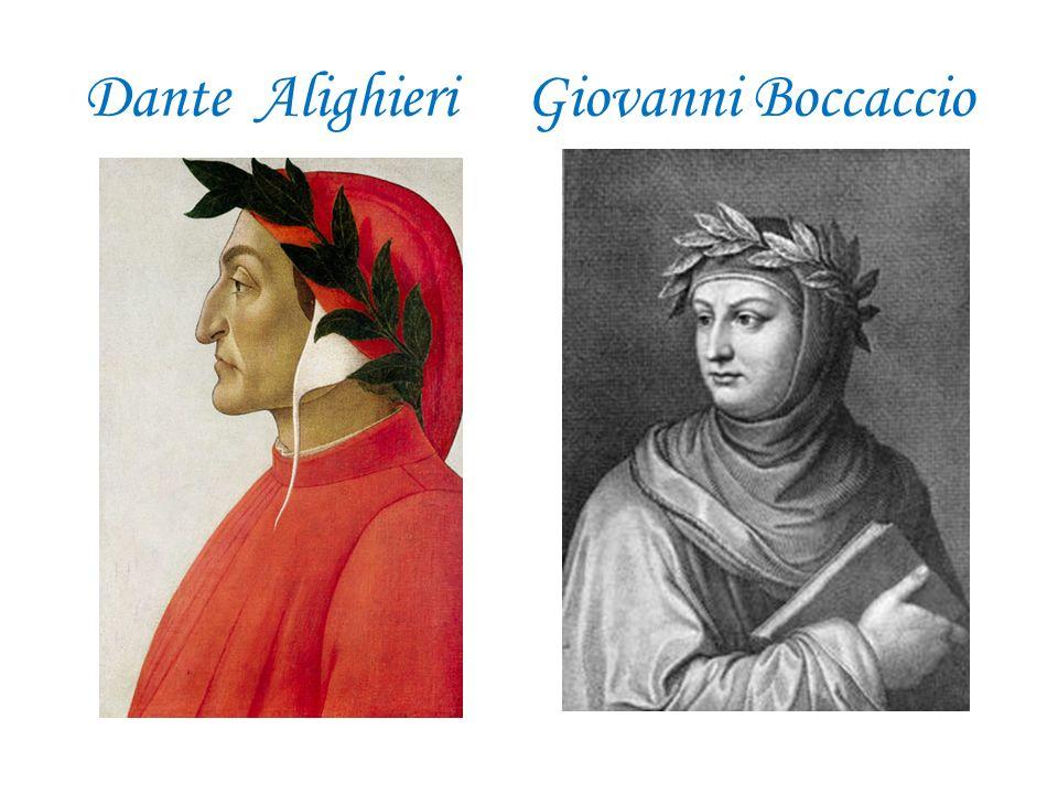 Dante Alighieri Giovanni Boccaccio