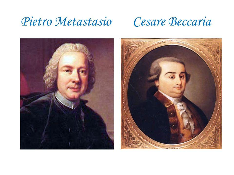Pietro Metastasio Cesare Beccaria