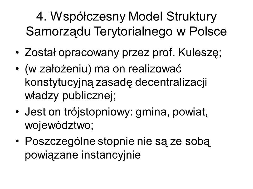 4. Współczesny Model Struktury Samorządu Terytorialnego w Polsce Został opracowany przez prof.