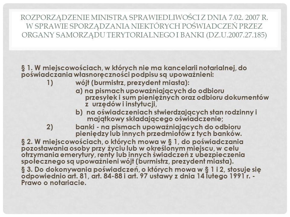 ROZPORZĄDZENIE MINISTRA SPRAWIEDLIWOŚCI Z DNIA 7.02.