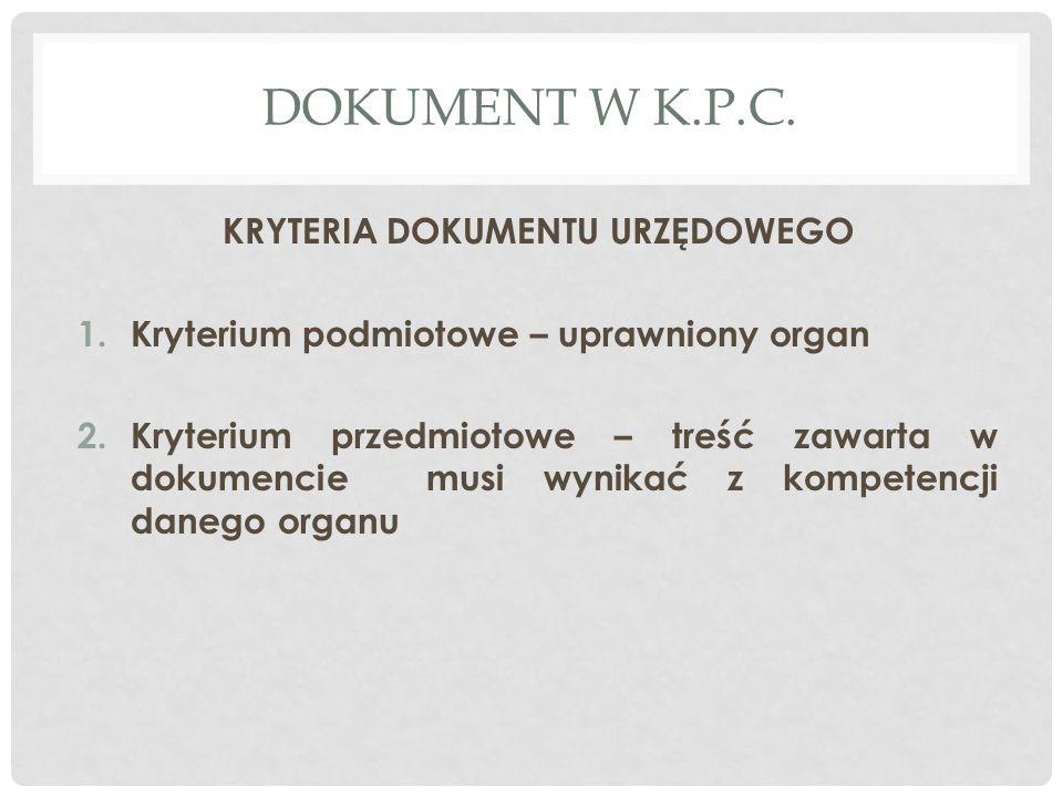 DOKUMENT W K.P.C.