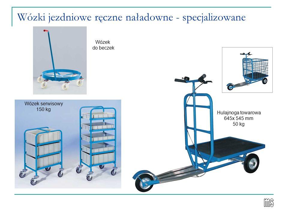 Wózki jezdniowe ręczne naładowne - specjalizowane Hulajnoga towarowa 645x 545 mm 50 kg Wózek serwisowy 150 kg Wózek do beczek