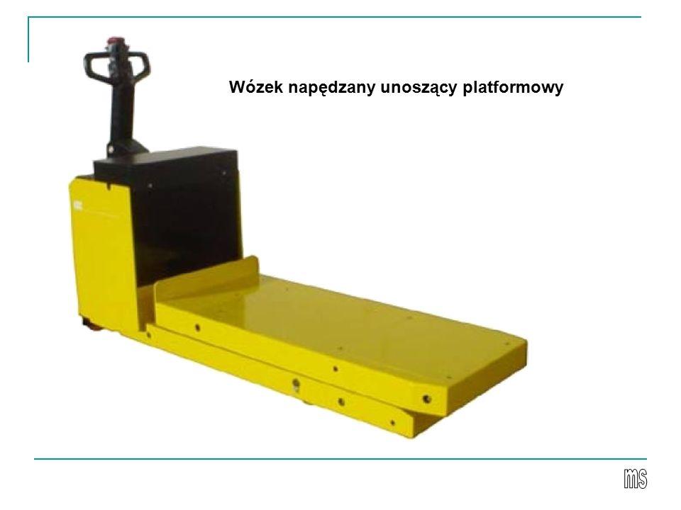 Wózek napędzany unoszący platformowy