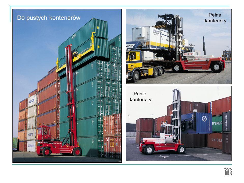 Do pustych kontenerów Puste kontenery Pełne kontenery